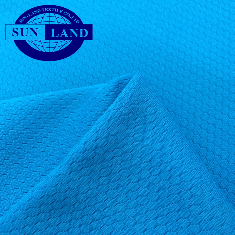 special knit design sports shirt clothing 100 polyester jacquard honeycomb mesh fabric