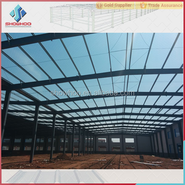h beam prefab steel structure warehouse fabric covered building