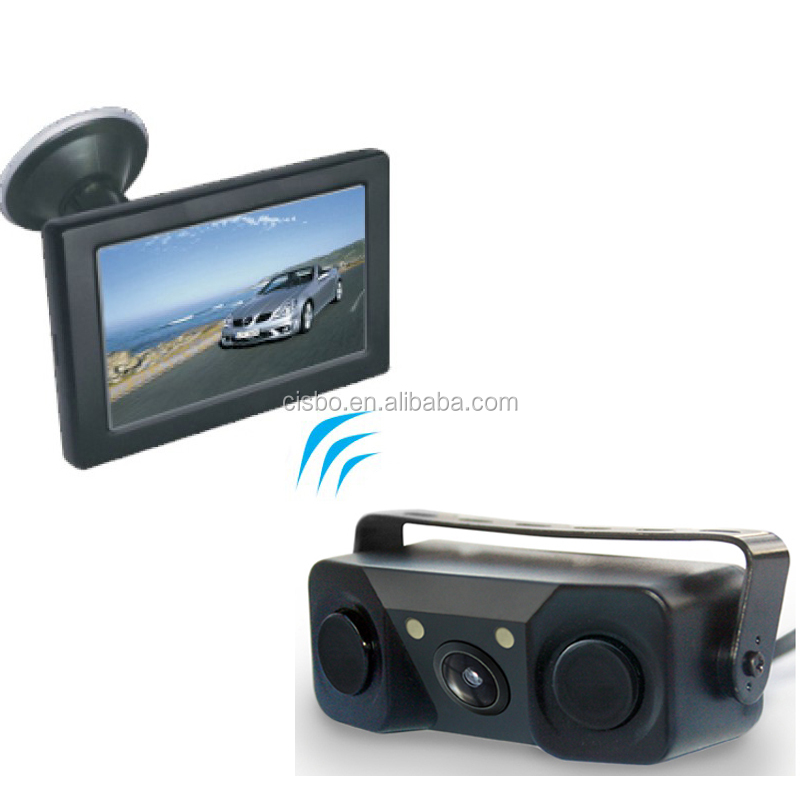 4.3 inch Wireless Speech Video Parking Sensor Car Rearview Camera in Car Black Box auto spare parts Car System