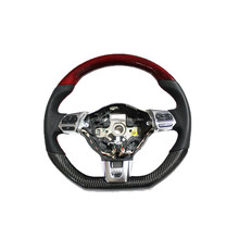 CARBON FIBER RED STEERING WHEEL FOR VOLKSWAGEN GTI6