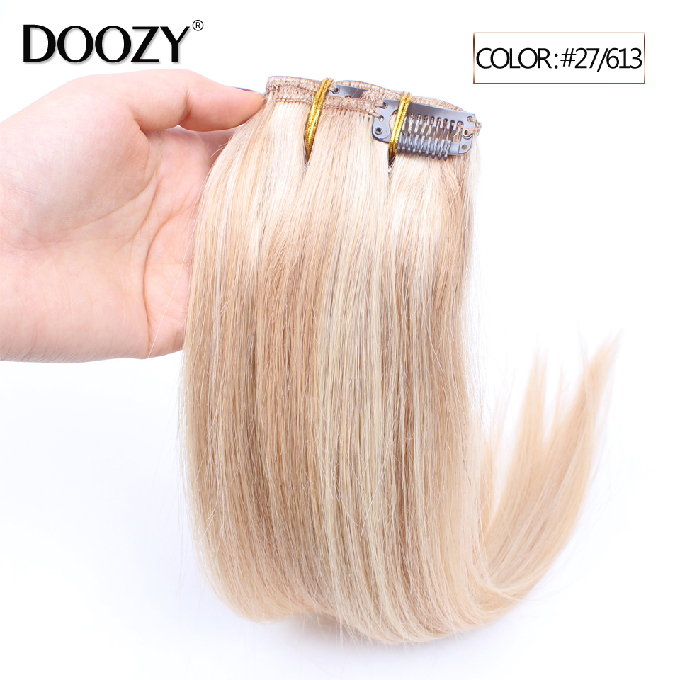 Doozy 100 percent virgin remy human hair piano ombre clip in hair extension