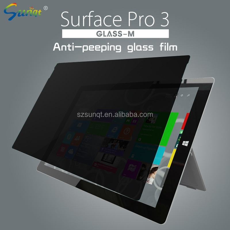 Sunqt computer anti-spy Screen protective film,180 Degree Desktop privacy screen protector oem/odm (Privacy)