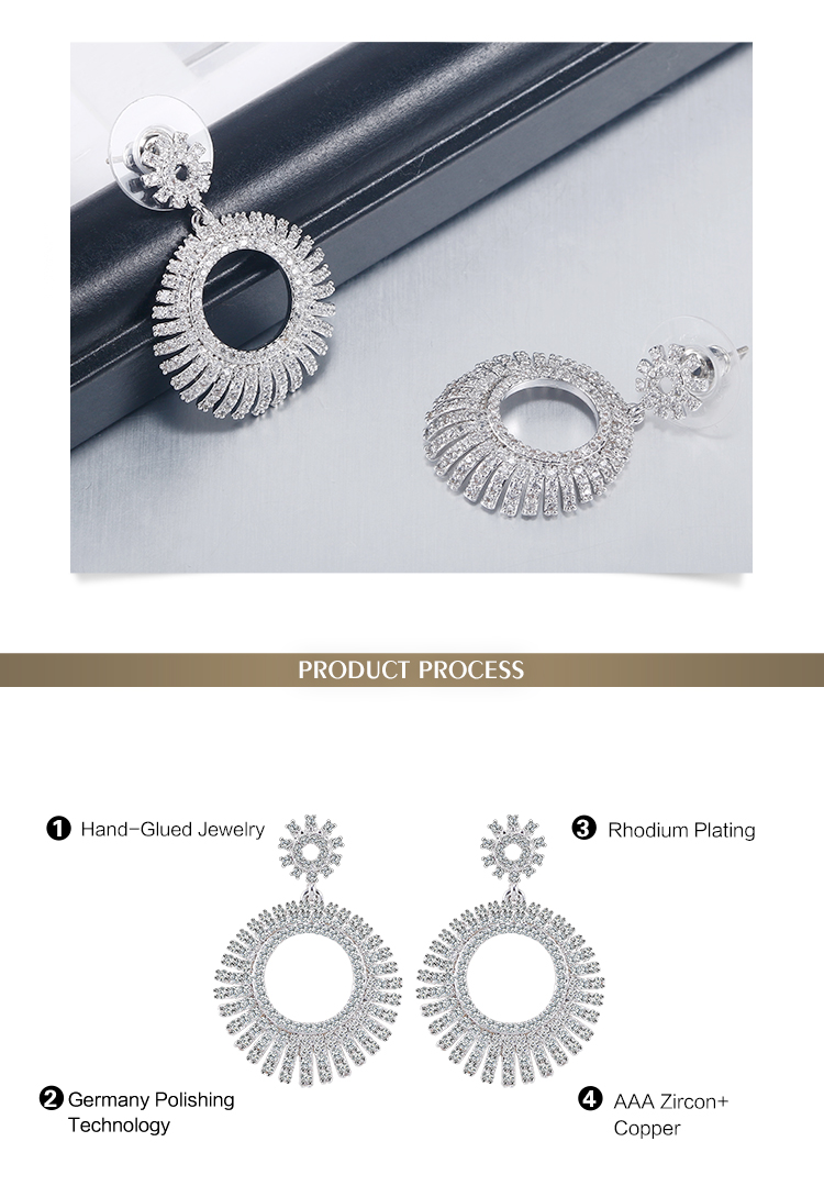 2017 hot selling luxury type unique beautiful exotic earring jewellery designs for women