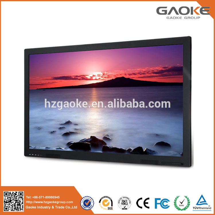 lcd interactive tv touch screen whiteboard competitive price rs232 projection screen 84 big 98 inches outdoor led screens