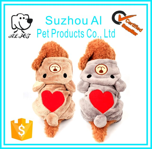Puppy Outfit Pet Jumpsuit Winter Warm Fleece Dog Hoodie