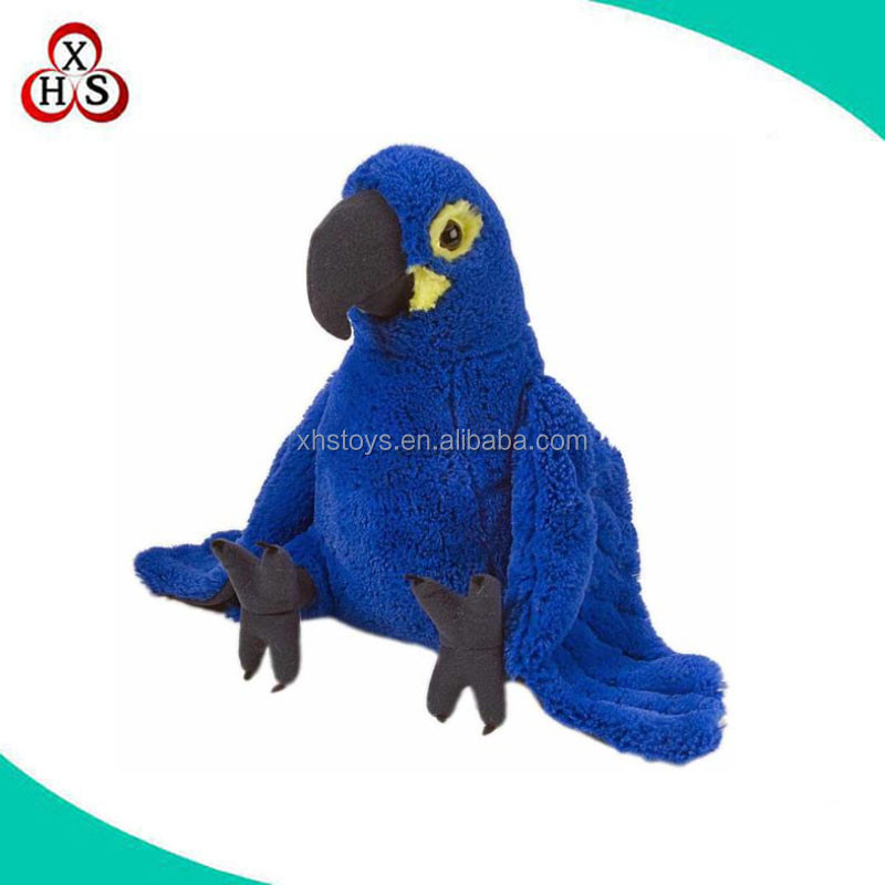 lifelike plush toys blue parrot birds parrot toy