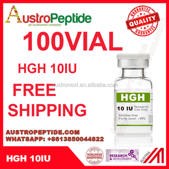 100 vial Black top somatropin hgh 10iu , HGH 191AA , hcg 5000 iu , wholesale hgh 10iu with free shipping