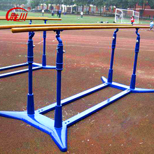 Outdoor steel fitness equipment body-building wooden parallel bars