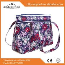 China supplier cotton pretty quilted hipster portable bag women handbags