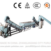 waste mulching film/greenhouse film recycling & pelletizing machine
