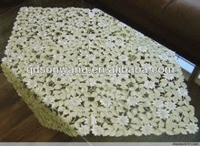 daisy embroidered TABLE CLOTH with embroidery and cutwork