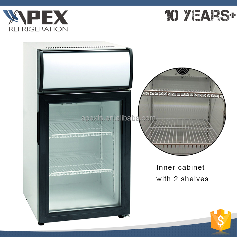 Mini ice cream display freezer countertop display freezer chocolate mini freezer