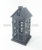 Small black house metal christmas lantern