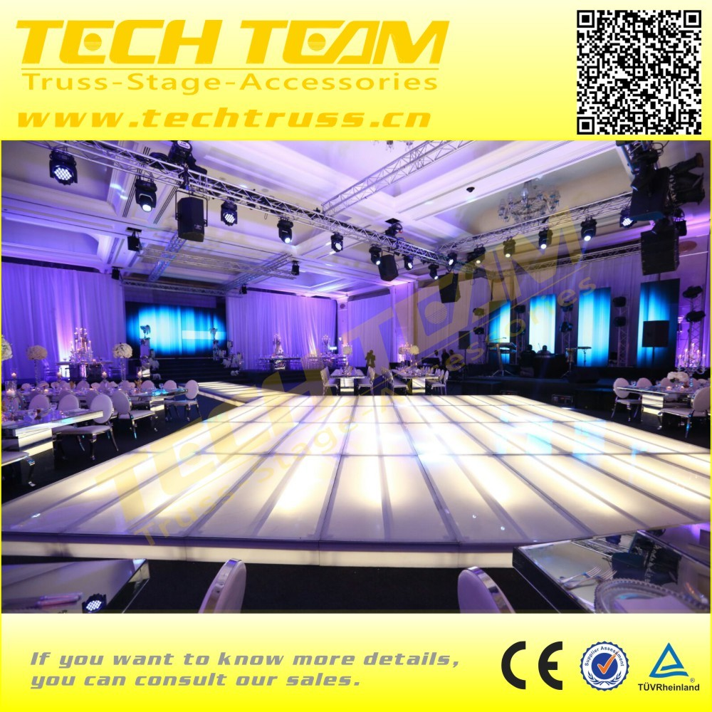 White color acrylic event stage display catwalk stage