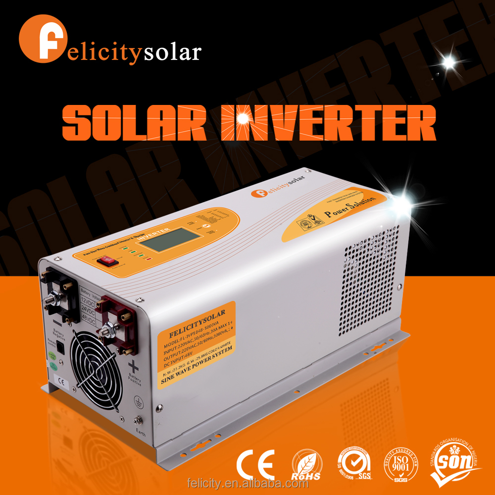 New design power inverter pure sine converter for solar panel with battery charger
