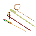 Party Supplies Colored Bamboo Skewers with Knot /Ring /Heart Cocktail Picks
