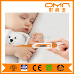 Popular precision digital body high fever temperature meter monitor flexible probe quick accurate test home and hospital