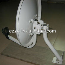 movable antenna KU band 75* 80 cm outdoor satellite TV antenna welding stand