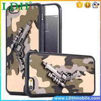 Camouflage 3D Guns Case for iPhone 6 /6S for iPhone 6 /6S /Plus Cover Army Blue Cool Modern Phone Cover Bags for i6 / 6S /Plus