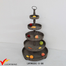 3 Tier Solid Wooden Fruit Decorative Trays Stand