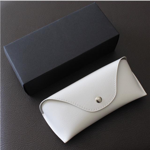 unisex handmade custom logo PU leather sunglasses case eyewear case with black box