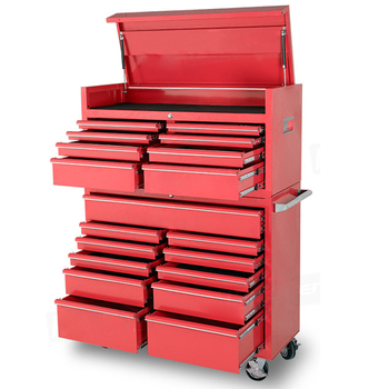 "Lincor 19-Drawers 4 Casters max Steel Garage painting bricklayer Tool Cabinet 46"" tool box"