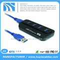 High Speed 4-Port USB 3.0 Hub Adapter Led indicator for PC Computer