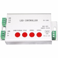 High Quality With/Without SD Card Full Color DMX WS2812B APA102 UCS1903 ect IC LED Dream Color Controller