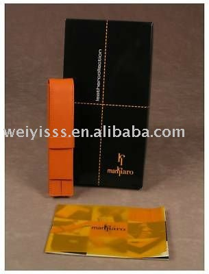 Genuine black Leather Pencil Cases / Pen Bags for StudentsBD-051063