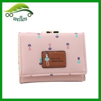 Yiwu purse manufacture change purse with card holder lady pocket coin purse