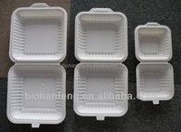 corn starch biodegradable plastic disposable food container box