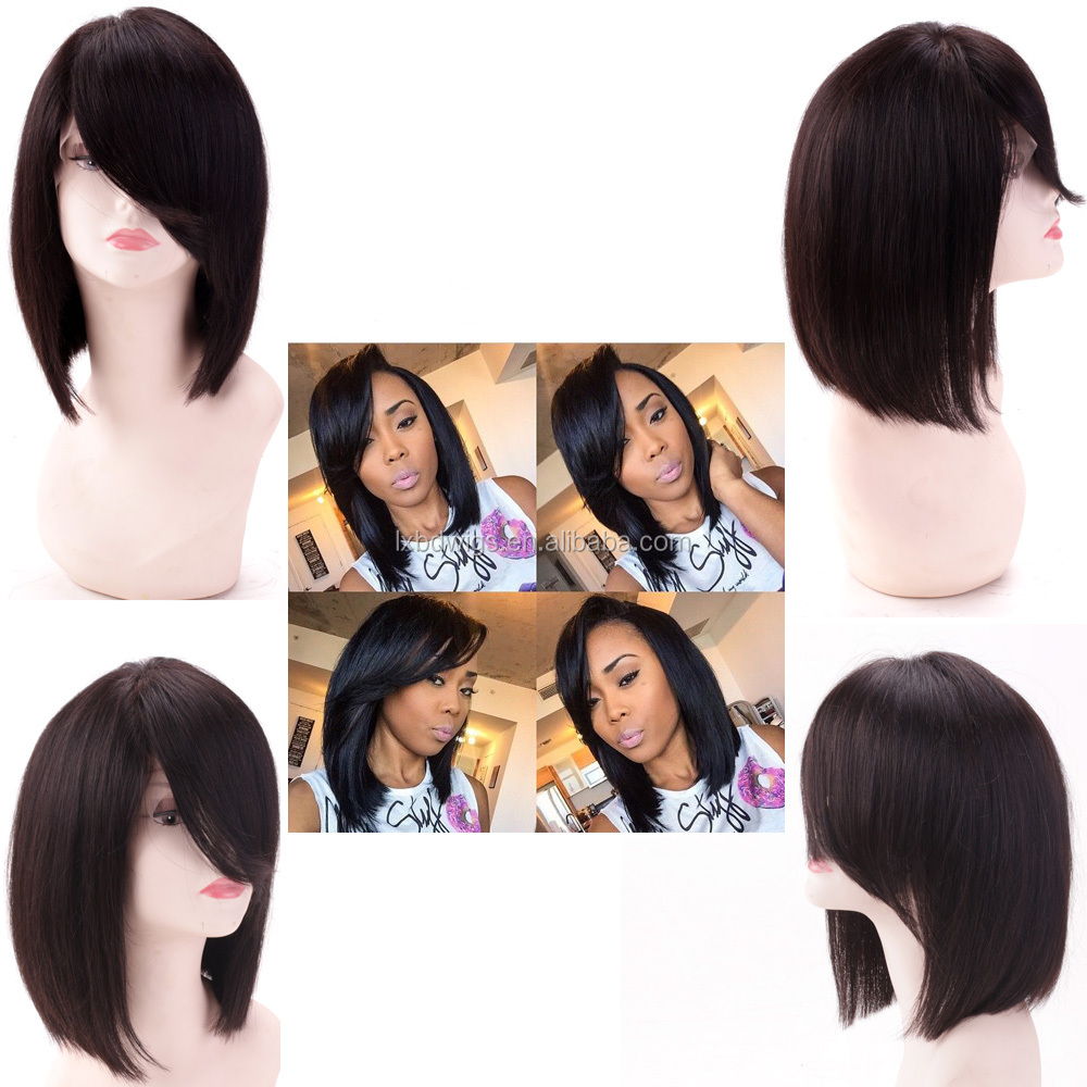 Aliexpress hair human hair wig short bob lace front wig for black woman