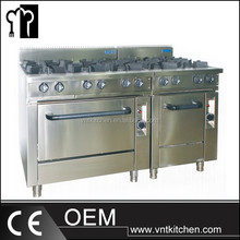 Free standing Stainless Steel Cooking Range/4 or 6 Burners Gas Range with Oven
