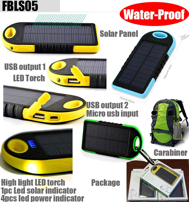2017 portable power bank mobile solar charger 10000mah