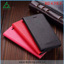 Crossing Pattern Card Slot PU Wallet Phone Leather Case For iPhone 6