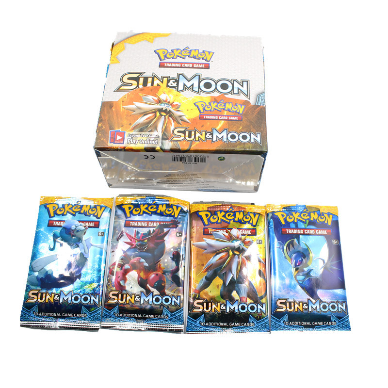 2017 newset 324pcs pokemon go cards pokemon sun and moon game cards