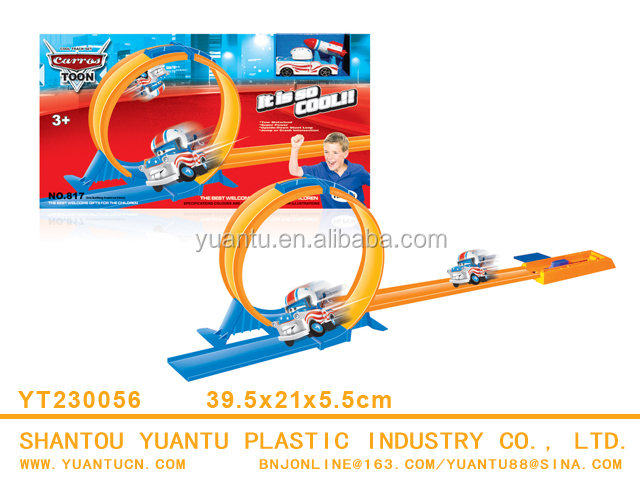 Hot sale!New funny slot toys track car with Elastic rail for children kid toy
