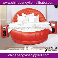 bed room furniture king size circular bed PY-002