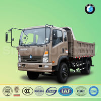 sinotruk cdw transport carry dump truck load of sand
