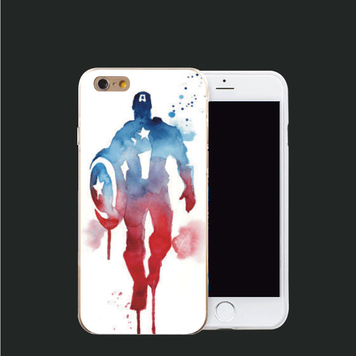 Captain America series Phone cases for apple iphone 6plus 6 6s phone shell DIY Hard PC Phone Back cover Protector