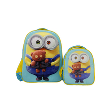 High quality trendy 600D polyester cartoon character kids cheap school bags