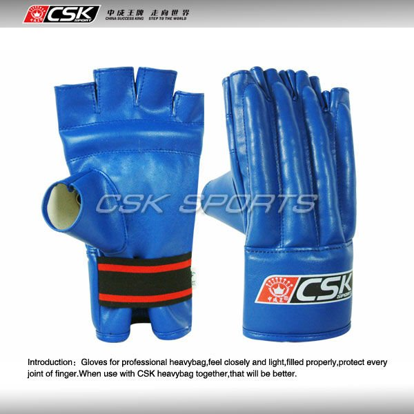 Blue Professional Boxing Bag Gloves