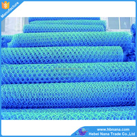 Blue PVC coated hexagonal mesh / pvc coated wire mesh to decorate and fence poultry