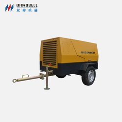 China Compair Portable Diesel Screw Air Compressor