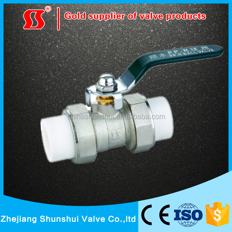 PP-R pipe Brass Ball Valve from yuhuan shunshui valve factory