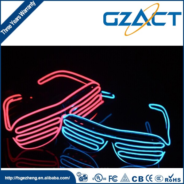 New year Christmas crazy party decoration el wire led rave glasses