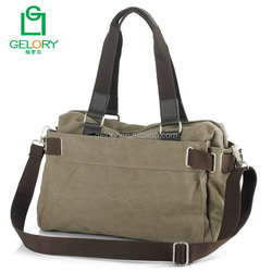 Customized good quality Vintage Mens canvas Shoulder Bag Canvas Messenger Bags