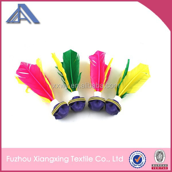 Outdoor sport top quality feather kick shuttlecock