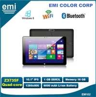 Intel Z3735F CPU Windows8.1 10.1 inch Quad Core Tablet PC, Camera, Optional Phone