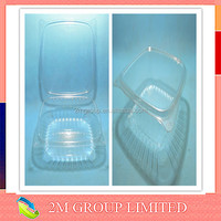 Plastic transparent food packaging box with lid